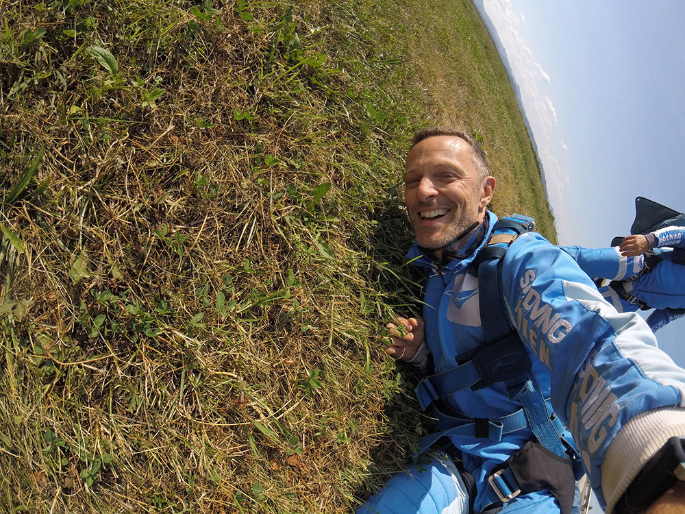 Juraj Šebalj skok padobranom aeroklub Tandem
